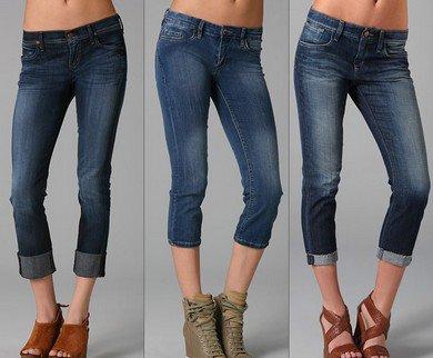 Укороченные джинсы-2013-2014